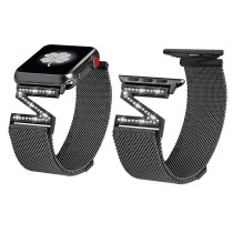 Strap Milanese Loop Diamond For Apple Watch Band 38mm 40mm 42mm 40mm 44mm iwatch series 5/4/3/2/1Stainless Steel strap women new
