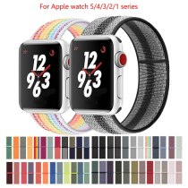 Band For Apple Watch 5 4 40MM 44MM 3 2 1 38MM 42MM Nylon Soft Breathable Replacement Loop Strap for iwatch series Accessories
