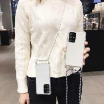 For Samsung Galaxy S20 Ultra S10 Plus S10E Note20 10 plus A70 A40 Crossbody Cover With Lanyard Necklace Shoulder Neck Strap Case