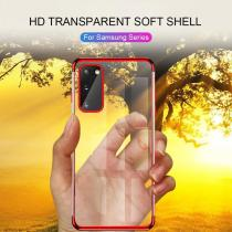 Luxury Clear Plating Case For Samsung galaxy note20 Pro note 10 lite s20 Ultra 5G s10 plus S 10 Silicone Soft TPU phone armor