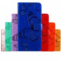 Flip Case For Samsung Galaxy A71 A51 5G A41 A31 A21 A11 A01 A70 A50 A10E A20E A81 A91 A80 A90 A60 A40 A20S A10S Cover PU 3D Butterfly