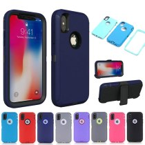 3 in 1 Shockproof Cover for iPhone 7 8 6 6s Plus X XS Max XR Hybrid Heavy Defend Case for iPhone 11 12 Pro Max SE2 Case Fundas