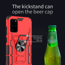 Phone Case For Samsung Galaxy S20 Plus Ultra A71 5G A21 A51 A81 A50 A20 Support Car Magnetic Holder Cover Open Beer Cap