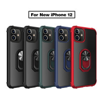 Shockproof Case For iPhone 12 Pro Max 5.4 6.1 6.7 inch Transparent Ring Phone Cover Magnetic carriage Car