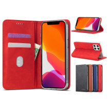 For iPhone 12 Pro Max 5.4 6.1 6.7 Case leather Retro leather Case Flip Phone Case Multi-function Storage Card Holder