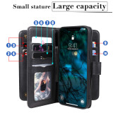 10 Card Flip Case For iPhone For iPhone 12 Pro Max Case 5.4 6.1 6.7 Cover PU Leather + Card Holder