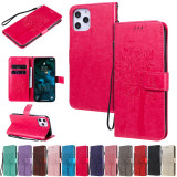Flip Case For iPhone For iPhone 12 Pro Max Case 5.4 6.1 6.7 Cover PU 3D Tree Leather + Card Holder