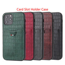Crocodile Skin PU Leather Card Slot Holder Case For iPhone 12 Pro Max 5.4 6.1 6.7 inch For iPhone 11 Pro Max XS 7 8 Plus XR Cover