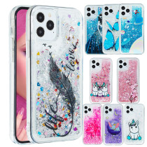 For iPhone 12 Pro Max Glitter Dynamic Liquid Case Quicksand Cover For iPhone 11 Pro XS Max X XS 5 5S SE 2020 6 6S 7 8 Plus