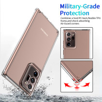 Shockproof Case For Samsung Galaxy Note 20 10 Ultra Transparent Phone Cover Four corners Anti-fall Acrylic material For Samsung Galaxy S20 S10 Plus