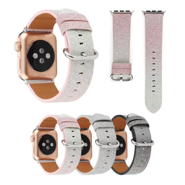 Gradient Glitter PU Leather Strap For Apple Watch 38mm 42mm Band Bracelet For iWatch Series 5 4 3 2 1 Watchband 40mm 44mm