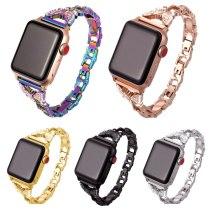 Women Diamond Butterfly Metal Strap for Apple watch band 40mm 38mm 42mm 44mm iwatch series 5/4/3 Bracelet Stainless Steel Strap