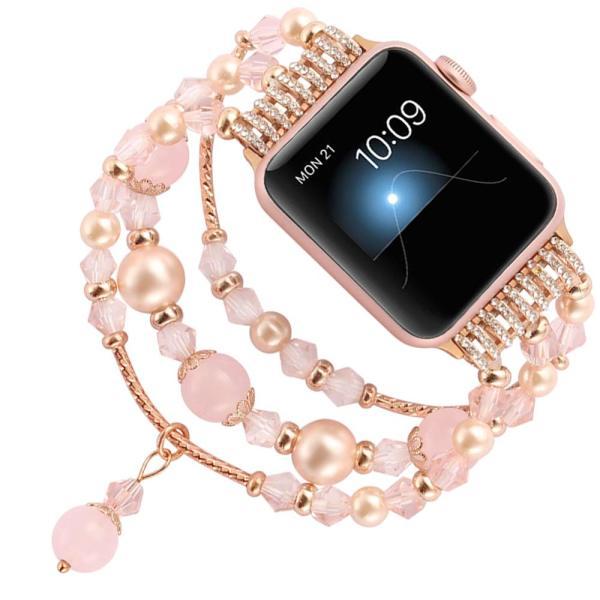 Link bracelet strap For Apple watch band 5 4 3 2 1 38mm 44mm for iwatch band 42mm 40mm Handmade Women Watchbands