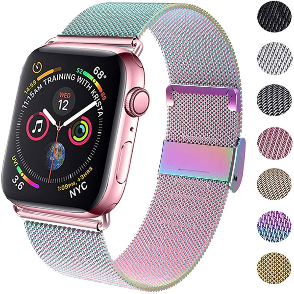 Milanese loop band for apple watch 38mm 42mm Magnetic clasp bracelet 40mm 44mm stainless steel strap for iwatch series 5 4 3 2 1