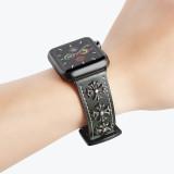 Five Stars Rivets Band for apple watch Series 5/4/3/2/1 sport loop strap correa iwatch 38mm 40mm bracelet apple watch 44/42mm Leather belt