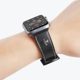 Two Stars Rivets Band for apple watch Series 5/4/3/2/1 sport loop strap correa iwatch 38mm 40mm bracelet apple watch 44/42mm Leather belt