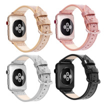 Flash Leather strap For Apple Watch band 40mm 44mm For apple wtch 4/5 Fashion Strap Bling Bracelet For iWatch 3/2/1 38mm 40mm