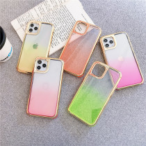 Plating Color Gradient Phone Case For iPhone 11 Pro Max Cover Colorful