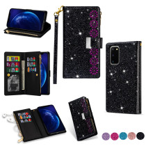 Luxury Zipper Phone Bag For Samsung Galaxy Note 20 10 Plus Case Soft Holder Bling Leather Cover For Samsung Galaxy S20 S10 Plus Ultra A71 A51 4G 5G A31 A21S A70E A41 A21