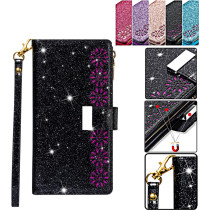 Luxury Zipper Phone Bag For iPhone 12 11 Pro Max Case Soft Holder Bling Leather Cover For iPhone SE 2020 7 8 X XR XS MAX Magnetic Rope Bumper