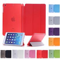 Ultra-thin Slim Tablet Case for iPad mini 1 2 3 / iPad 2 3 4 / iPad Air 1 2 Case Flip Magnetic Folding PVC for iPad Pro 9.7 / iPad 10.5  Air 3 Smart Cover One-Piece Design