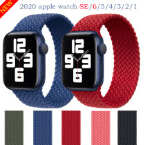 Watchbands for Apple Watch SE Series 6 Bands 40mm 44mm Woven Single Loop Strap for iwatch 5/4/3/2/1 38mm 42mm accessories 2020