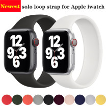 2020 Newest Silicone Strap for Apple Watch 6 5 4 3 2 1 SE Band 44/42mm 40/38mm iWatch band Belt Solo single Loop iwatch bracelet