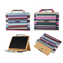 Striped Handbag Flip Stand Handhold Smart Case For mini 5 4 3 2 1 For iPad 10.2 (2019) For New iPad9.7 2017/2018 For iPad6/Air2/Pro 9.7 Cover
