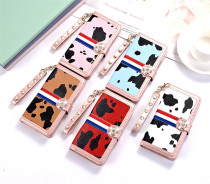 Cow Pattern Leather Wallet Phone Case with Card Slot For iPhone 12 Pro Max 5.4 6.1 6.7 inch Case For iPhone 11 Pro Max X XR XS Max 6 6S 7 8 Plus Back Full Cover Stand
