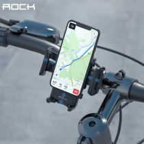 ROCK Motorcycle Riding Holder phone aluminum alloy bracket, Riding Strong Adhesive Support Stand Paste Adapter Clip for iPhone