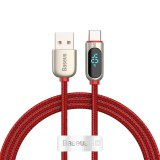Baseus USB Type C Cable 5A Fast Charging For Huawei Xiaomi Samsung LED Display USB C Phone Charger Cable USB-C Data Wire Cord