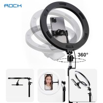 ROCK Live Phone Tripod Holder 10  26 cm Ring Light with Tripod Stand Studio Circle Light Video Live Phone Holder for Live Stream