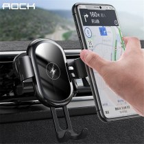 ROCK 15W Qi Wireless Charger Car Holder for iPhone 11 Pro Samsung Xiaomi Intelligent Infrared Air Vent Mount Car Phone Holder