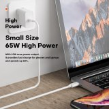 ROCK GaN Charger 65W Fast PD3.0 PPS QC3.0 FCP Charger for MacBook Air iPad iPhone 12 Pro Max 11Pro Samsung Wall Charger for DELL