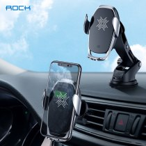 ROCK 2 In 1 Qi Wireless Charger Car Mount 15W for Air Vent Mount Car dashboard Phone Holder  Fast Wireless Charging Charger