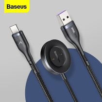 Baseus 5A USB Type C Cable For Huawei P40 Xiaomi Samsung USB C Fast Charging For Huawei Watch GT 2 Charger Cable USB-C Data Wire
