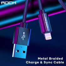 ROCK 3A USB Type C Cable Alloy Fast USB Charging Type-C Charger Data Cable for Huawei Samsung Xiaomi iPhone IOS Android Cable