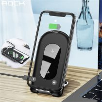 ROCK 10W Foldable Qi Wireless Charger Stand Fast Charge Phone Stand Multifunctional Wireless Charging Pad For iPhone Samsung