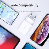 ROCK USB Dual Port Charger 5V 2.4A Fast Charging Wall Charger Adapter EU Plug Mobile Phone For iphone ipad mini Samsung Xiaomi