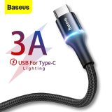 Baseus 3A USB Type C Cable Fast Chagring Charger Type-c Cable For Samsung S10 S9 Xiaomi Mi 9 8 Oneplus 6t 6 5t USB C Data Cable