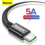Baseus 5A USB Type C Cable For Huawei Mate 30 P30 P20 Pro Supercharge Xiaomi mi 9 Samsung S10 S9 USBC Type-c Cable USB-C Charger