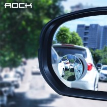 ROCK HD Blind Frameless Convex Rear View Mirror Car 360 Degree Wide Angle Vehicle Parking Rimless Mirrors