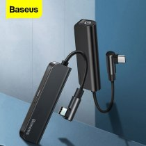 Baseus PD 18W USB C OTG Adapter USB Type C to 3.5mm Jack Type-c Aux Audio Connector For Xiaomi mi 9 Samsung S10 S9 USBC Splitter