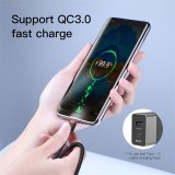 Baseus USB Type C To Type C Cable For Redmi K30 Note 8 Pro Quick Charge 4.0 Fast Charge Type-C Cable For Samsung S10 USB-C Wire