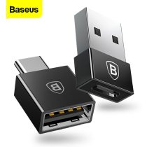 Baseus OTG USB Type C Adapter USB To Type-c Data Converter Type-c OTG Adapter For Samsung S9 S8 Xiaomi Tablet USB-C Charger Cabo