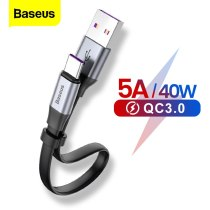 Baseus USB C Cable 5A USB Type C Cable For Huawei P30 P20 Mate 20 P10 Pro Lite Fast Charging Charger For Xiaomi mi Type-c Cable
