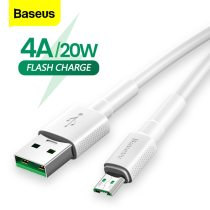 Baseus Micro USB Cable 4A Flash Charge For OPPO VOOC USB Micro Cable 2A Charging For Samsung Xiaomi Microusb Data Wire Cord 2m