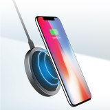 ROCK 15W QI Fast Wireless Charger For Samsung S10 S8 S9 Note 9 Mobile Phone Visible USB Charge Pad For iPhone 11 X XS MAX XR 8P