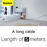 Baseus 5M USB C Cable 3A Fast Charging Charger USB Type C USB-C Cable For Xiaomi Mi 9 8 Samsung S10 S9 Oneplus 6t Type-C Charger