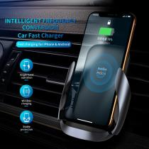 ROCK QI Wireless Car Charger for iPhone Fast Charging Wirless Car Charger Air Vent Mount Phone Holder for Samsung Huawei Xiaomi